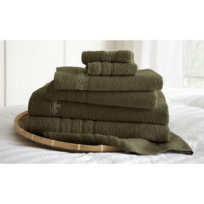 La Boheme Paris 6 Piece Towel Set Color: Mocha