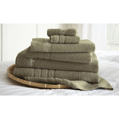 La Boheme Paris 6 Piece Towel Set Color: Taupe