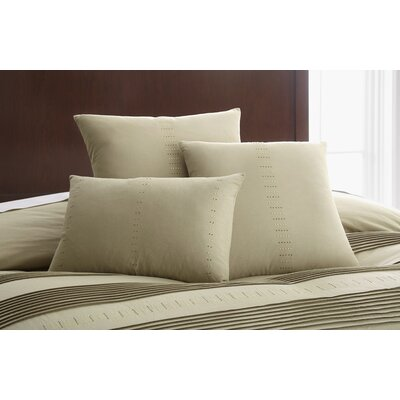 Swarovski Elements 3 Piece Salvatore Decorative Cotton Breakfast and Throw Pillow Set Color: Taupe