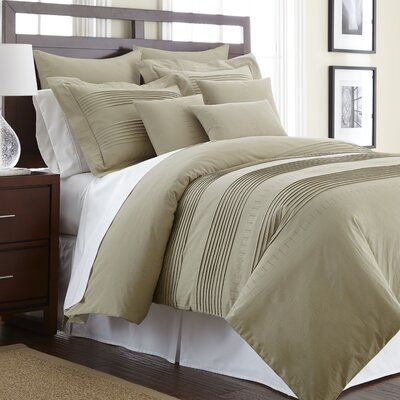 Swarovski Elements Salvatore 3 Piece Duvet Cover Set Size: Queen, Color: Taupe