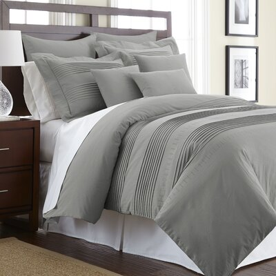 Swarovski Elements Salvatore 3 Piece Duvet Cover Set Size: King, Color: Platinum
