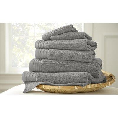 Casablanca Jacquard 6 Piece Towel Set Color: Platinum
