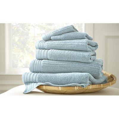 Casablanca Jacquard 6 Piece Towel Set Color: Soft Blue