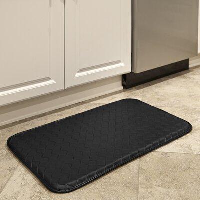 Basketweave Kitchen Mat Color: Black