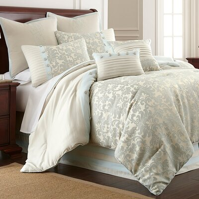 8 Piece Sabrina Comforter Set Size: Queen