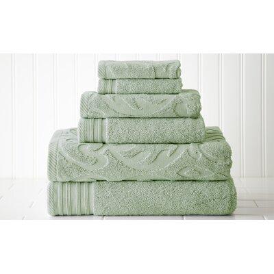 Amrapur 6 Piece Jacquard Towel Set - Color: Celadon