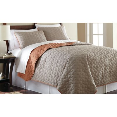 3 Piece Reversible Coverlet Set Size: Queen, Color: Atmosphere and Hazel