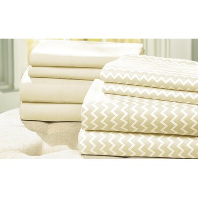 8-Piece Carrie Sheet Set Size: King, Color: Ivory