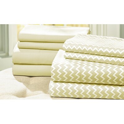 8-Piece Carrie Sheet Set Size: King, Color: Light Gray