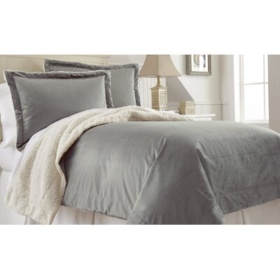 Klas Comforter Set Size: King, Color: Gray