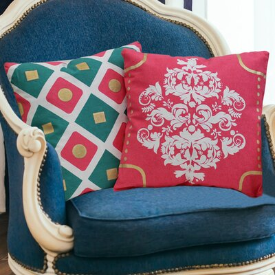 Eclectic 2 Piece Cotton Throw Pillow