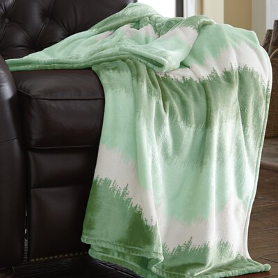 Ombre Oversized Luxury Throw Blanket Color: Sage