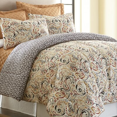 Mavia 6 Piece Reversible Comforter Set Size: Queen