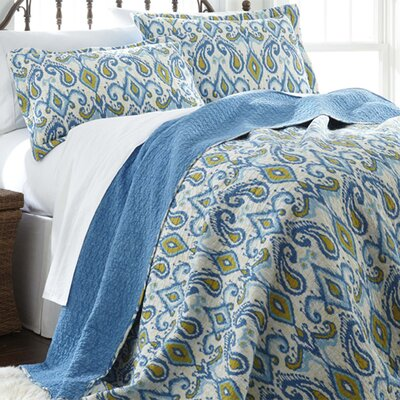 Kristen 3 Piece Reversible Quilt Set Size: Full / Queen