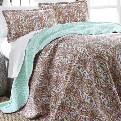 Annabelle 3 Piece Reversible Quilt Set Size: Full / Queen