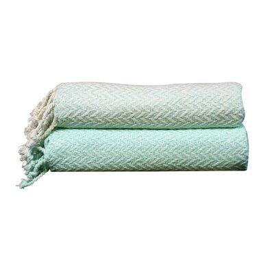 Cevenola Cotton Throw Blanket Color: Sky Blue
