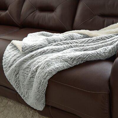 Adreanna Reverse Throw Blanket Color: Gray