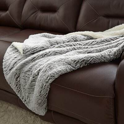 Klas Reverse Throw Blanket Color: Charcoal