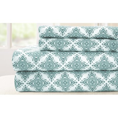200 Thread Count 100% Cotton Sheet Set Size: King, Color: Blue
