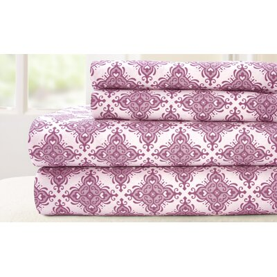200 Thread Count 100% Cotton Sheet Set Size: King, Color: Lavender