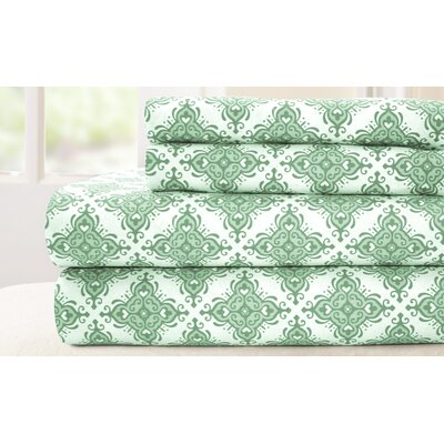 4 Piece 200 Thread Count 100% Cotton Sheet Set Size: C. King, Color: Sage