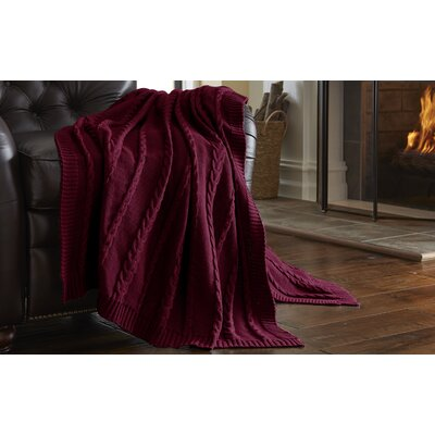 Sweater Knit Throw Blanket Color: Red