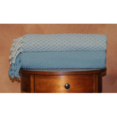 Flynn Mosaic Throw Blanket Color: Denim