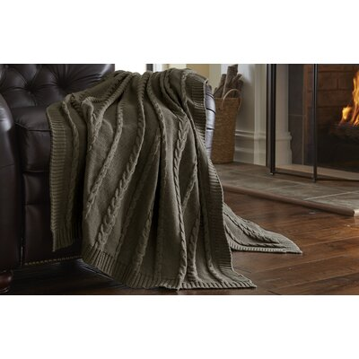 Sweater Knit Throw Blanket Color: Taupe
