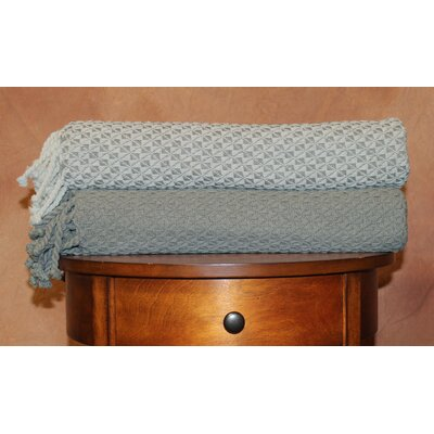 Flynn Mosaic Throw Blanket Color: Gray