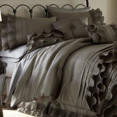 Embla 8 Piece Comforter Set Size: Queen, Color: Platinum