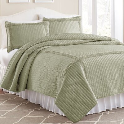 3 Piece Quilt Set Color: Taupe, Size: Full / Queen
