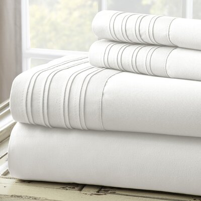 Fine Linens 1000 Thread Count 4 Piece Sheet Set Size: King, Color: White