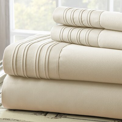 Fine Linens 1000 Thread Count 4 Piece Sheet Set Size: Full, Color: Taupe