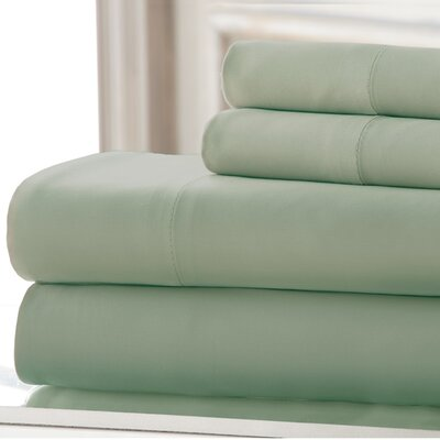 4 Piece 220 Thread Count Rayon Rich Sheet Set Size: Queen, Color: Sage