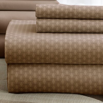 Solid Sheet Set Size: King, Color: Mocha