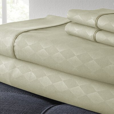Kensington Hotel Diamond 3 Piece Embossed Sheet Set