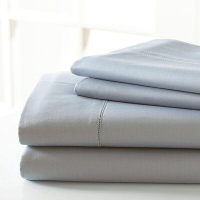 600 Thread Count Sheet Set Size: King, Color: Silver