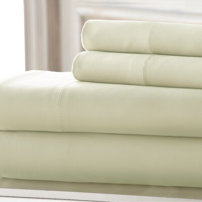 3 Piece 220 Thread Count Rayon from Bamboo Rich Sheet Set Color: White