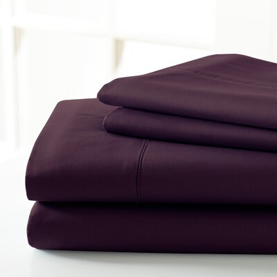 600 Thread Count Sheet Set Size: Full, Color: Wine