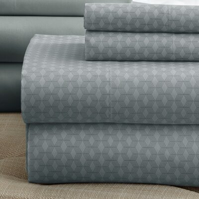 Solid Sheet Set Size: Full, Color: Platinum