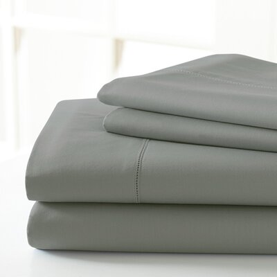 600 Thread Count Sheet Set Color: Charcoal, Size: King