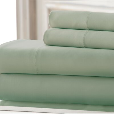 3 Piece 220 Thread Count Bamboo Rayon Rich Sheet Set Color: Sage