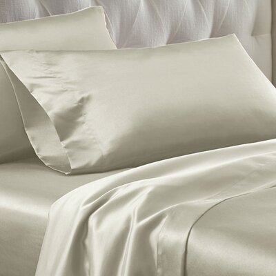 Satin Dreams Sheet Set Size: King, Color: Ivory