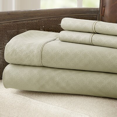 Kensington Hotel Polyester Sheet Set Size: King, Color: Champagne