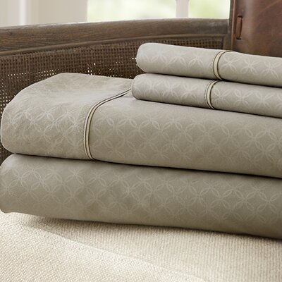 Kensington Hotel Polyester Sheet Set Size: Queen, Color: Taupe