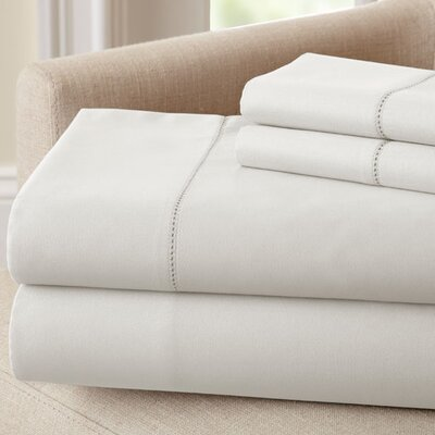1500 Thread Count Rich Solid Sheet Set Color: White, Size: King