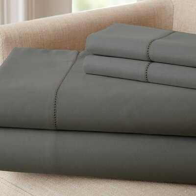 1500 Thread Count Rich Solid Sheet Set Size: Full, Color: Charcoal