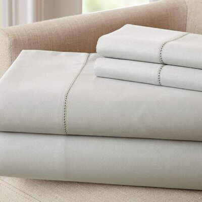 1500 Thread Count Rich Solid Sheet Set Size: California King, Color: Silver
