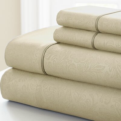3 Piece Sheet Set Color: Champagne