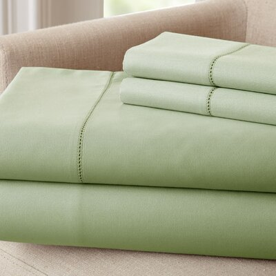 1500 Thread Count Rich Solid Sheet Set Size: King, Color: Sage